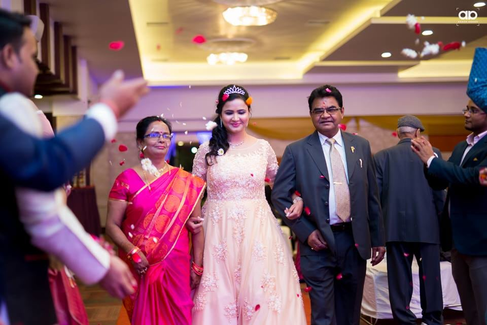 Stunning bride with her parents. by Akash Anand Photography  Wedding-photography Bridal-jewellery-and-accessories Bridal-makeup | Weddings Photos & Ideas