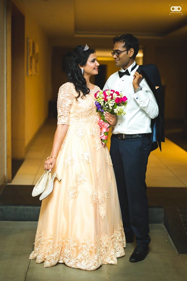 A stunning shot of the couple. by Akash Anand Photography  Wedding-dresses Wedding-hairstyles Groom-wear-and-accessories | Weddings Photos & Ideas