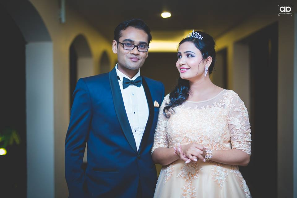 A stunning shot of the couple. by Akash Anand Photography  Wedding-photography Bridal-jewellery-and-accessories Groom-wear-and-accessories | Weddings Photos & Ideas