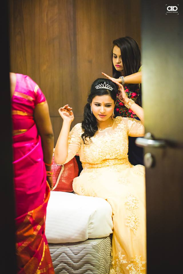 Bride-to-be getting ready. by Akash Anand Photography  Wedding-hairstyles | Weddings Photos & Ideas