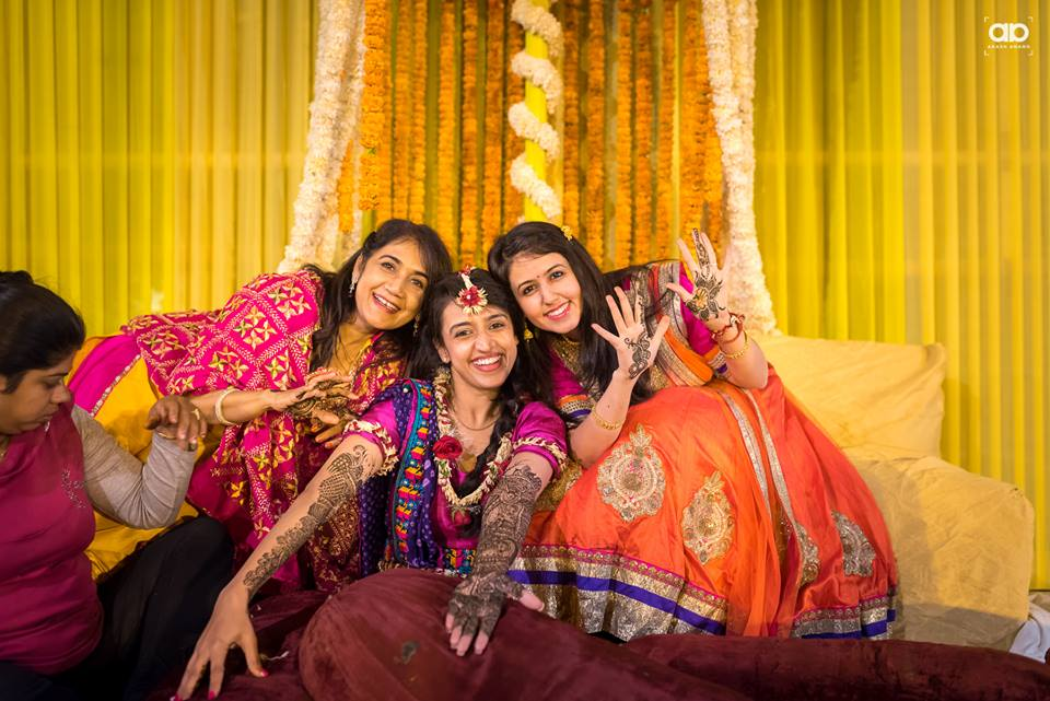 Bride with her gang. by Akash Anand Photography  Wedding-photography | Weddings Photos & Ideas
