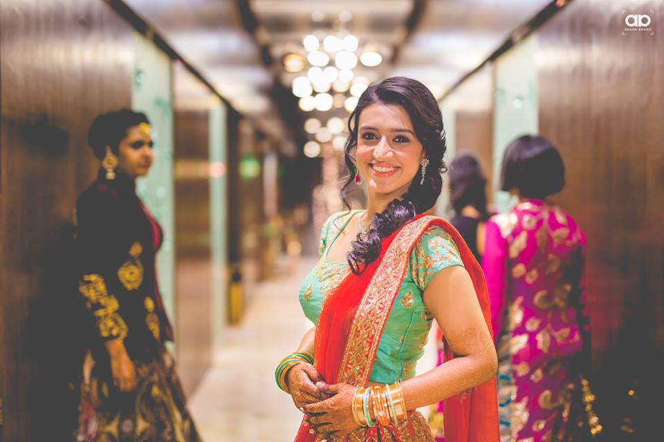 A simple bride on her wedding reception. by Akash Anand Photography  Wedding-photography | Weddings Photos & Ideas