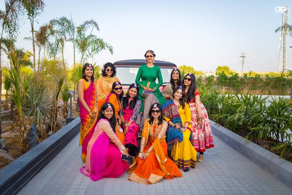 The stellar bride with her gang. by Akash Anand Photography  Wedding-photography Wedding-dresses | Weddings Photos & Ideas