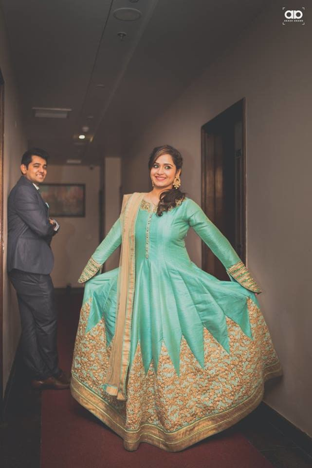 A stunning bride wearing blue suit. by Akash Anand Photography  Wedding-photography Wedding-dresses Groom-wear-and-accessories | Weddings Photos & Ideas