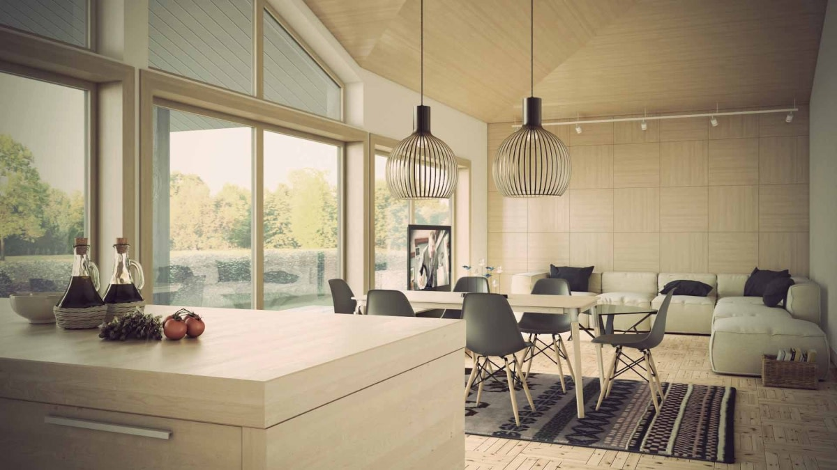 Living room and dining area by Hemant Sahni Living-room Contemporary | Interior Design Photos & Ideas