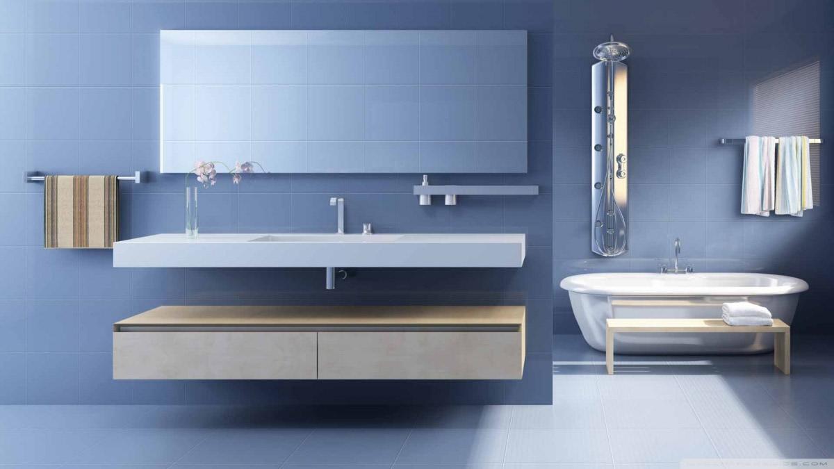 Sleek Wash Basin And bathtub In Bathroom by Hemant Sahni Bathroom Modern | Interior Design Photos & Ideas