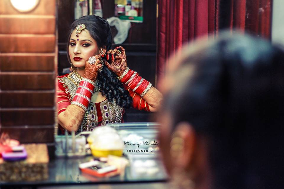 A regal bride getting ready. by Vinny Virdi Photography Wedding-photography Bridal-jewellery-and-accessories | Weddings Photos & Ideas