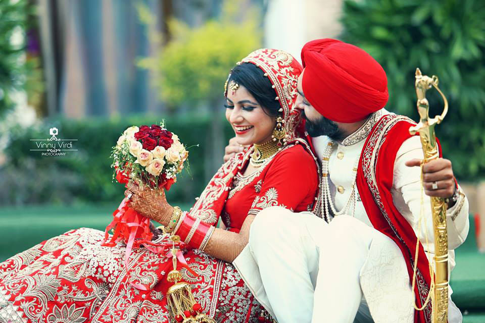 A happy bride and groom on their wedding day. by Vinny Virdi Photography Wedding-photography Groom-wear-and-accessories | Weddings Photos & Ideas