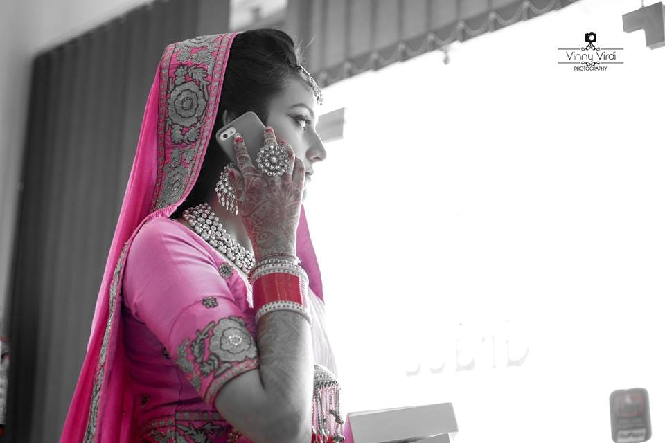 A Candid Shot Of the Bride. by Vinny Virdi Photography Wedding-photography Bridal-jewellery-and-accessories | Weddings Photos & Ideas