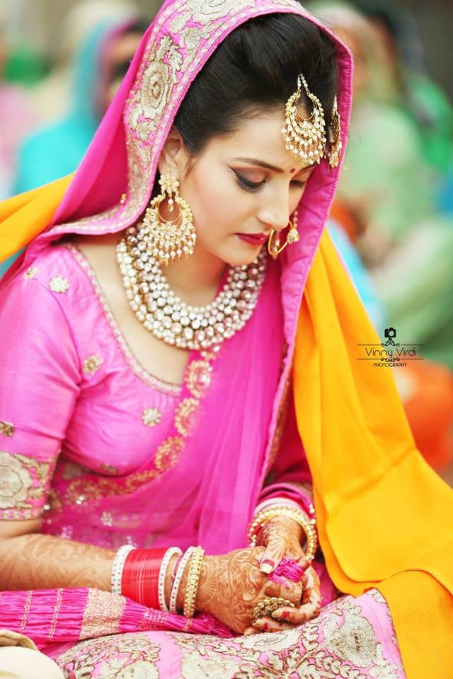 A Ravishing Bride On Her D-Day. by Vinny Virdi Photography Wedding-photography Bridal-makeup Bridal-jewellery-and-accessories | Weddings Photos & Ideas