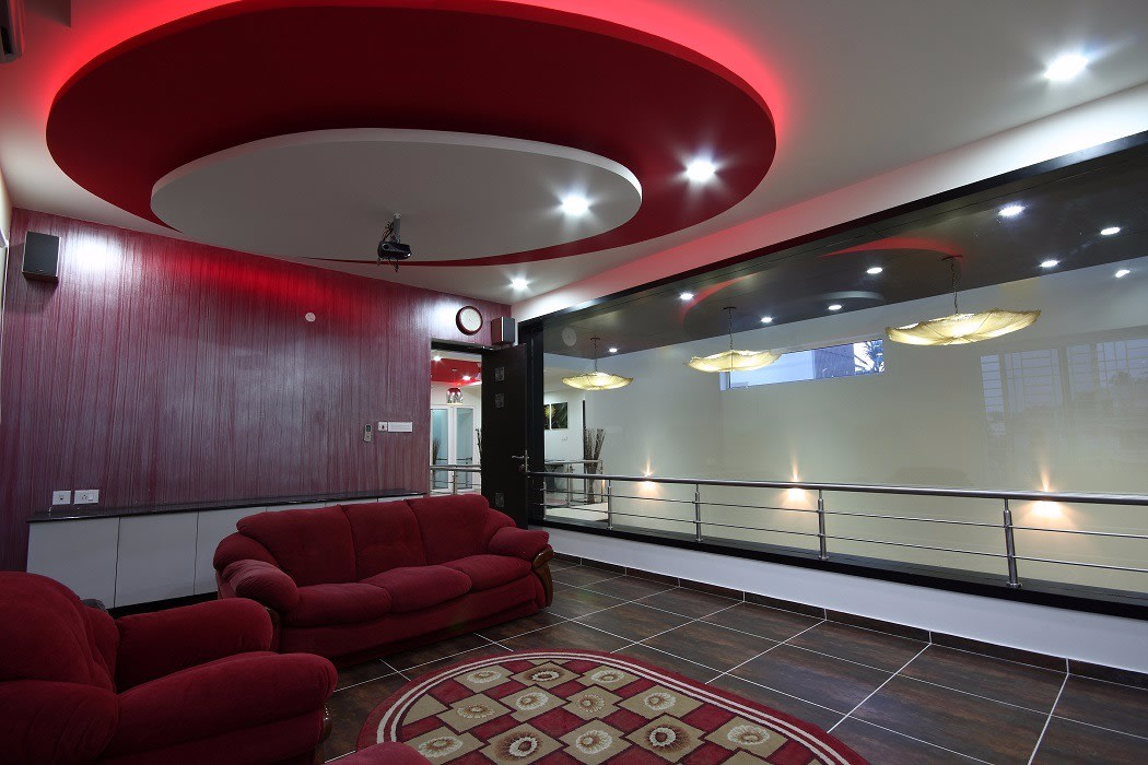 Superior Living Room With Red Sofa by Jerry Meshach J Living-room Modern   Interior Design Photos & Ideas
