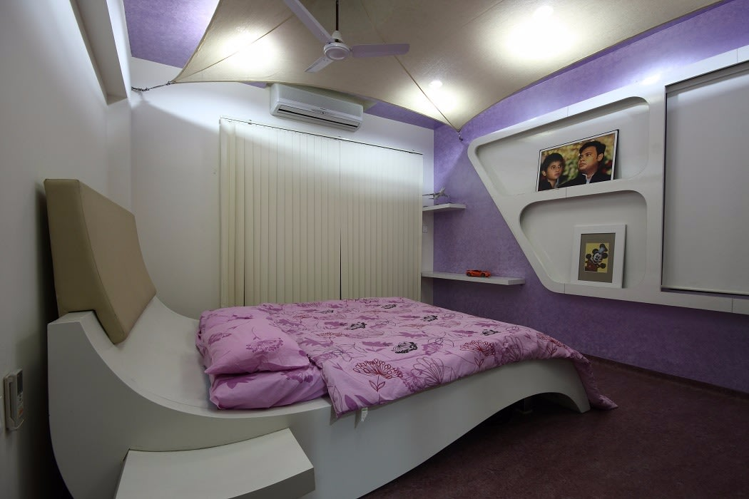 Purple And White Themed Bedroom by Jerry Meshach J Bedroom Modern   Interior Design Photos & Ideas