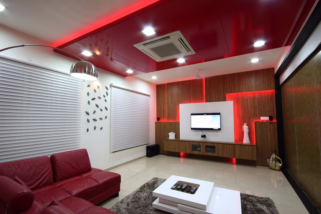 Red And White Themed Living Room by Jerry Meshach J Living-room Modern | Interior Design Photos & Ideas
