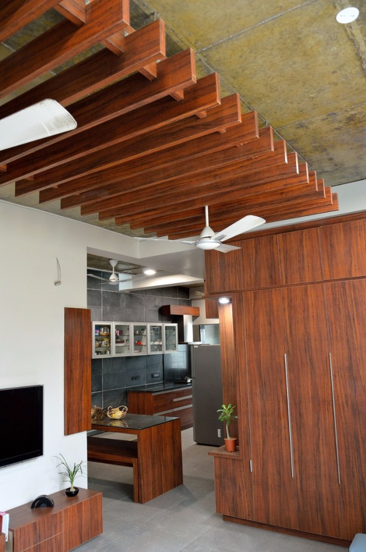 Wooden Striped Hallway by Jerry Meshach J Indoor-spaces Modern | Interior Design Photos & Ideas