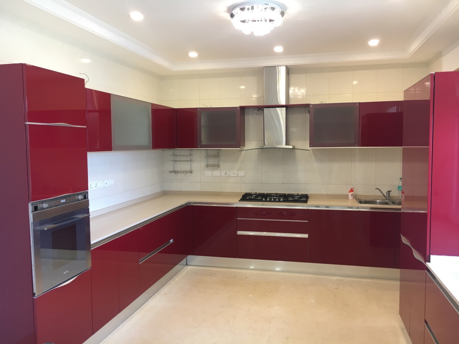 maroon modular kitchenprabhakar