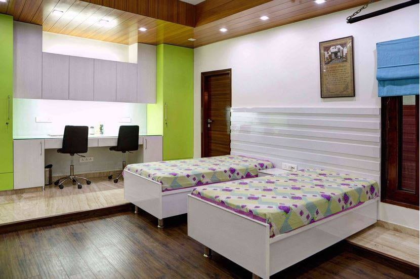 Minimalistic Bedroom Design by 12 Square Interiors