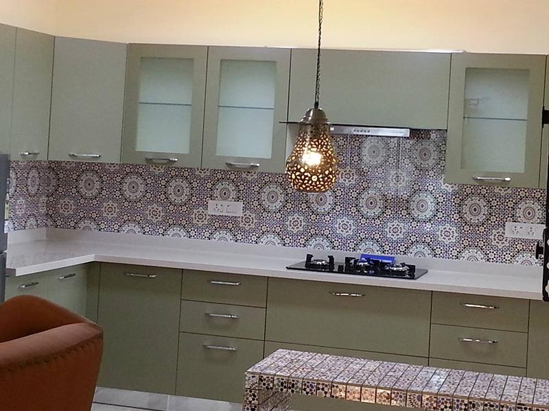 Retro Kitchen Design by 12 Square Interiors