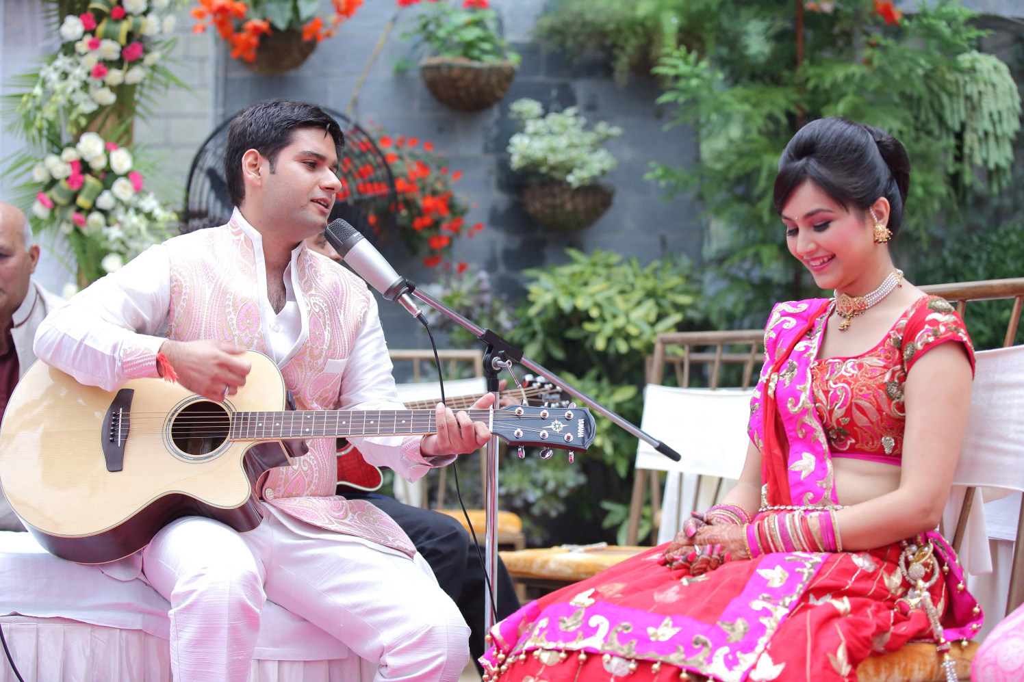 Expressing Love Through Music by Ravneet Oberoi Wedding-photography Groom-wear-and-accessories | Weddings Photos & Ideas