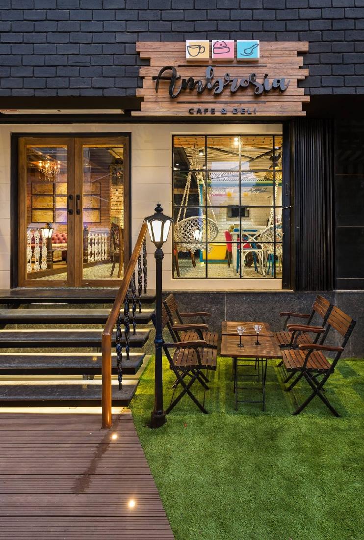 Open Cafe Space by Namah Design Studio  | Interior Design Photos & Ideas