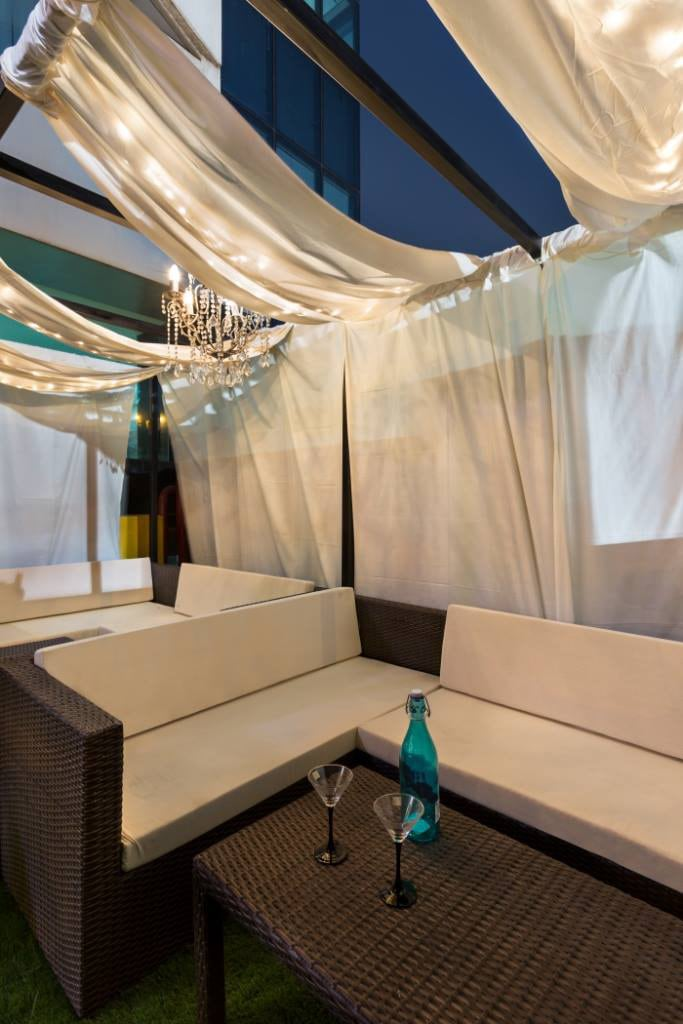White Cafe Space by Namah Design Studio  | Interior Design Photos & Ideas