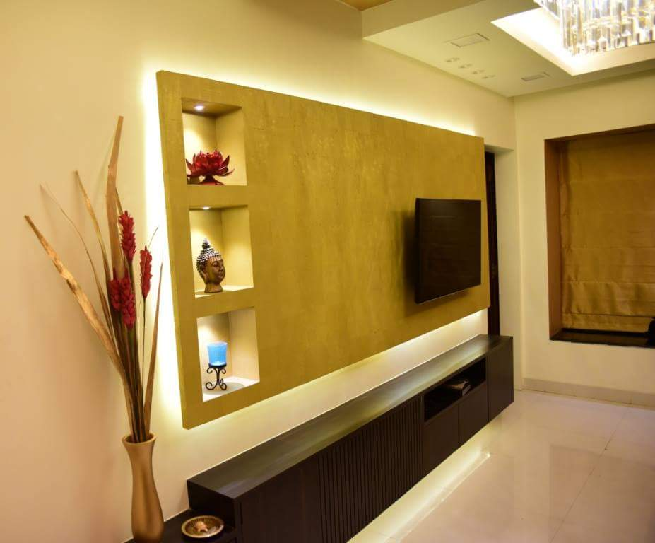 TV Display Unit Space by Namah Design Studio  Living-room | Interior Design Photos & Ideas