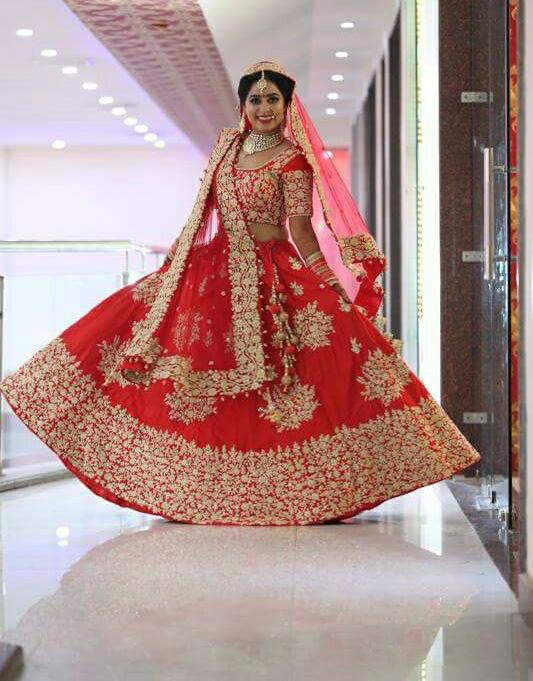 Bride wearing red bridal lehenga by Bunker Bowy Photography Wedding-photography | Weddings Photos & Ideas