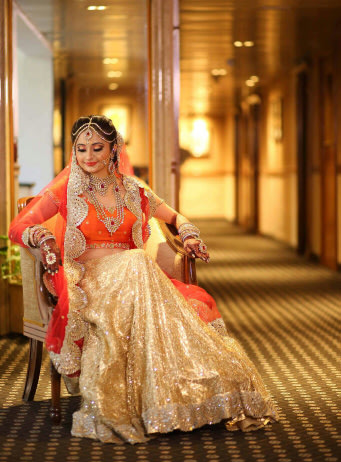 Orange bridal outfit! by Bunker Bowy Photography Wedding-photography | Weddings Photos & Ideas