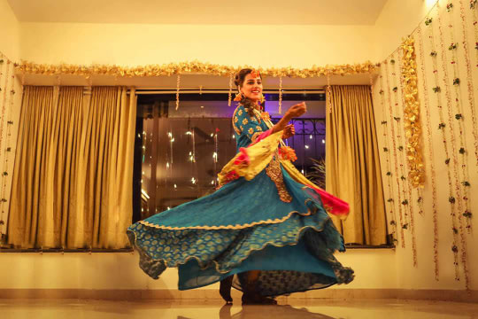 Bride wearing blue lehenga on mehendi day! by Bunker Bowy Photography Wedding-photography | Weddings Photos & Ideas