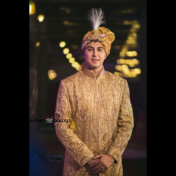 Golden attire of groom! by Bunker Bowy Photography Wedding-photography | Weddings Photos & Ideas