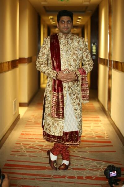 Handsome Groom In Golden Sherwani by Preeti Sharma Wedding-photography Groom-wear-and-accessories | Weddings Photos & Ideas