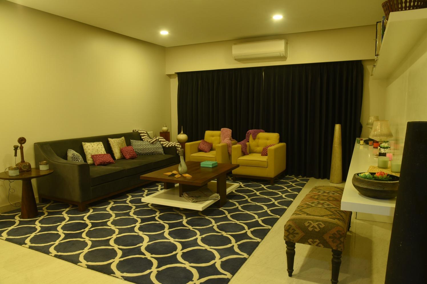 Spacious Living Room by Himanshi Living-room Modern   Interior Design Photos & Ideas