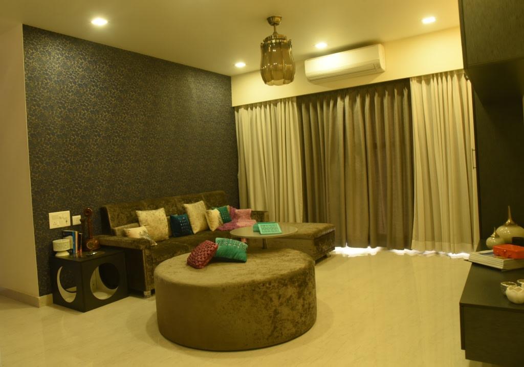 Serene Living Room by Himanshi Living-room Contemporary | Interior Design Photos & Ideas