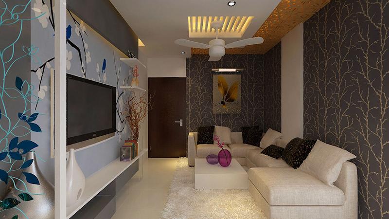 Beige Sofa Sets In Spacious Living Room by Star Design Living-room Contemporary | Interior Design Photos & Ideas
