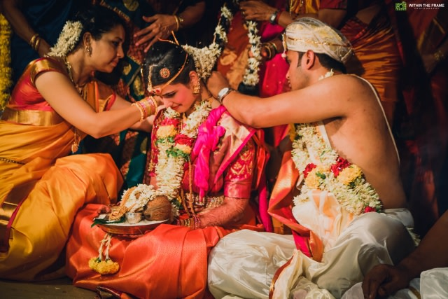Sacred knot tying ceremony by Within The Frame Photography Wedding-photography | Weddings Photos & Ideas