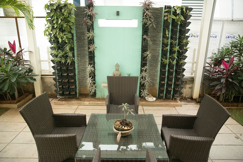 Patio Chairs And Glass Chairs With Rustic Balcony by Kv Patel Open-spaces Contemporary | Interior Design Photos & Ideas