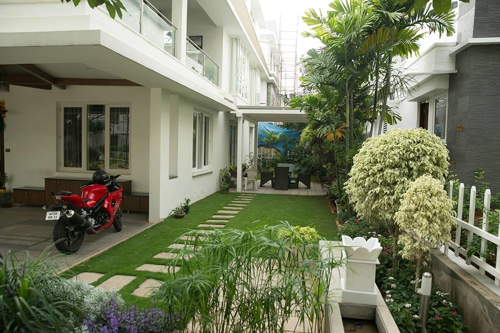 Garden Space With Seating Area by Kv Patel Open-spaces | Interior Design Photos & Ideas