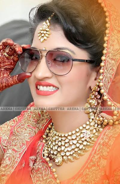 Half smile by SHUTTER ARENA Wedding-photography Bridal-makeup Bridal-jewellery-and-accessories | Weddings Photos & Ideas