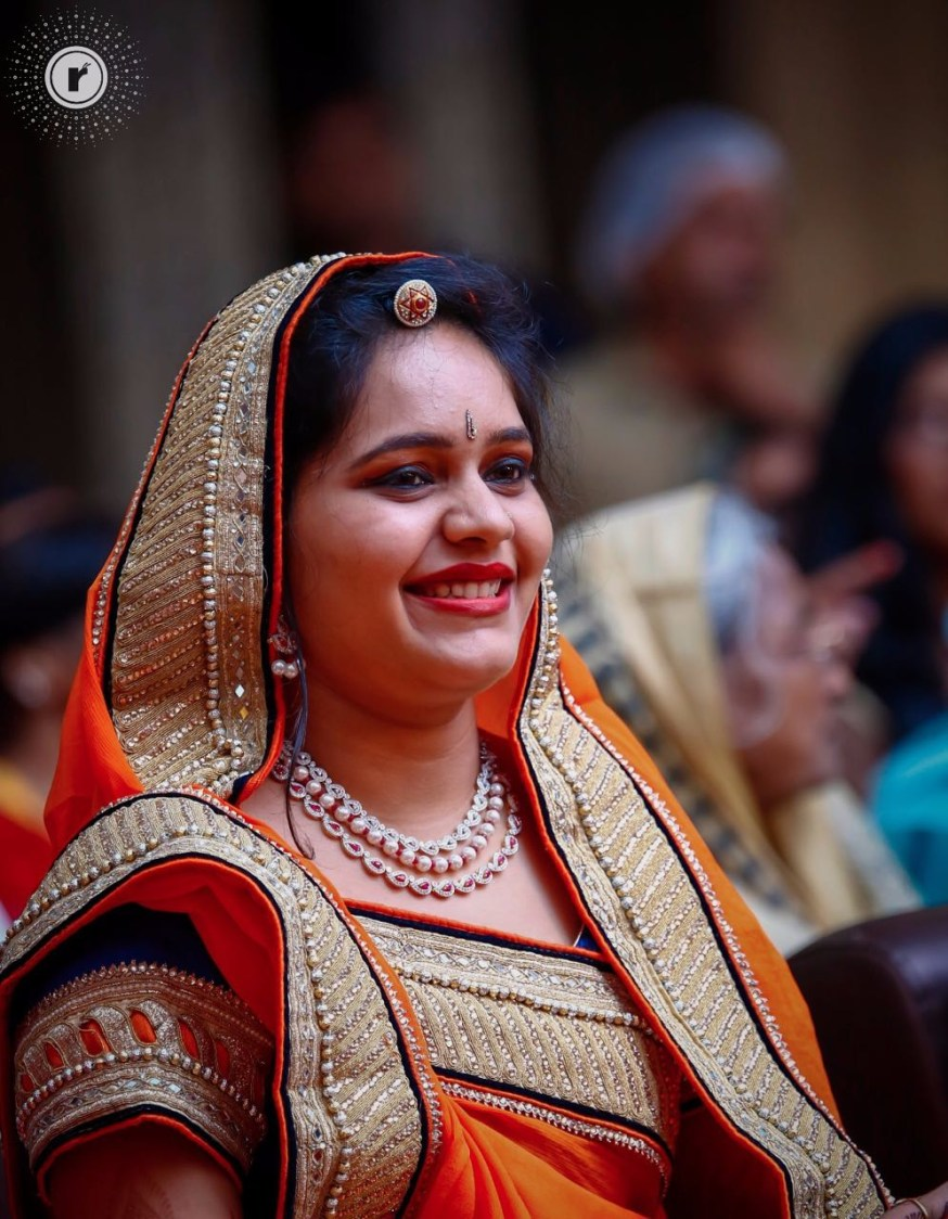 Orange saree of wedding guest! by Mohe Weddings By Running Renders Wedding-photography   Weddings Photos & Ideas