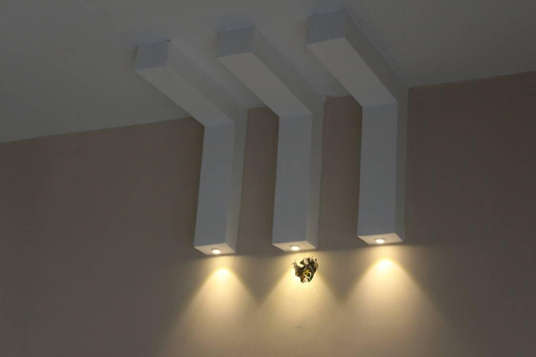 Ceiling by Divine home interiors  Living-room Contemporary | Interior Design Photos & Ideas
