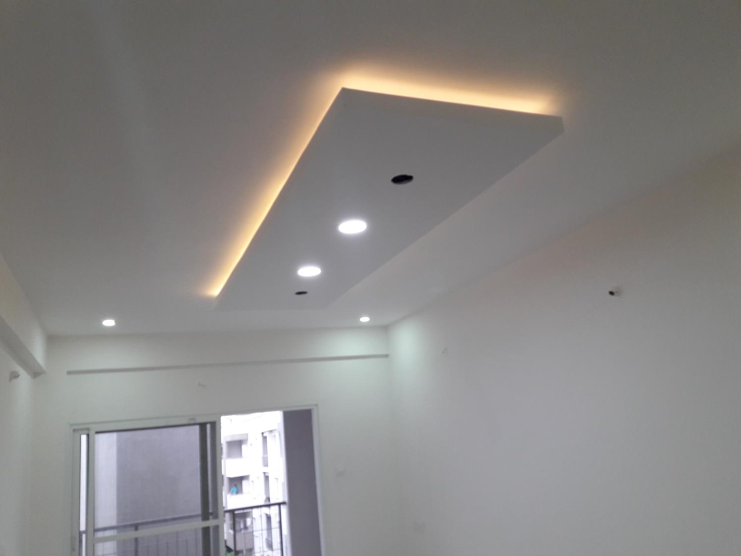 Ceiling by Divine home interiors  Living-room Contemporary   Interior Design Photos & Ideas