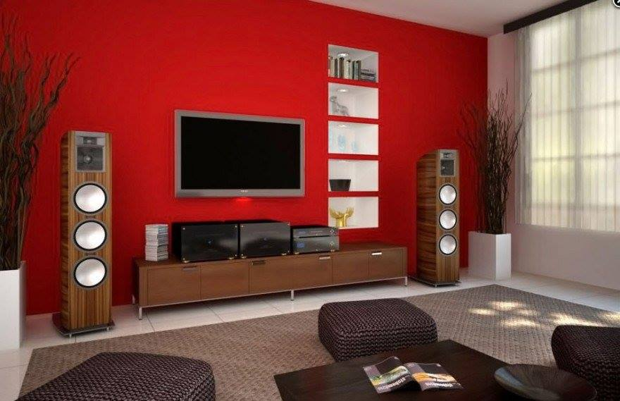 3 D Red Shaded Living Room by Jyoti Yadav Living-room Modern | Interior Design Photos & Ideas