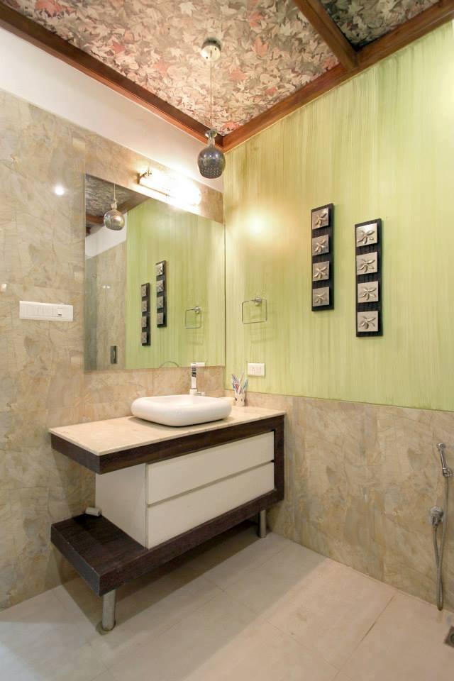 Textured Fawn Bathroom by Jyoti Yadav Bathroom Modern | Interior Design Photos & Ideas