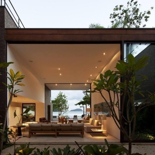 Cream Shade Living Room With Open Space by Jyoti Yadav Living-room Modern | Interior Design Photos & Ideas