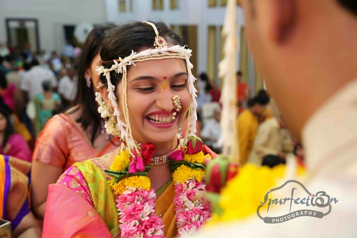Bride wearing golden nath! by Spurfection Photography Wedding-photography | Weddings Photos & Ideas