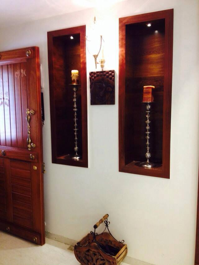 Wooden Display Unit by Misaki Atelier Living-room Modern   Interior Design Photos & Ideas