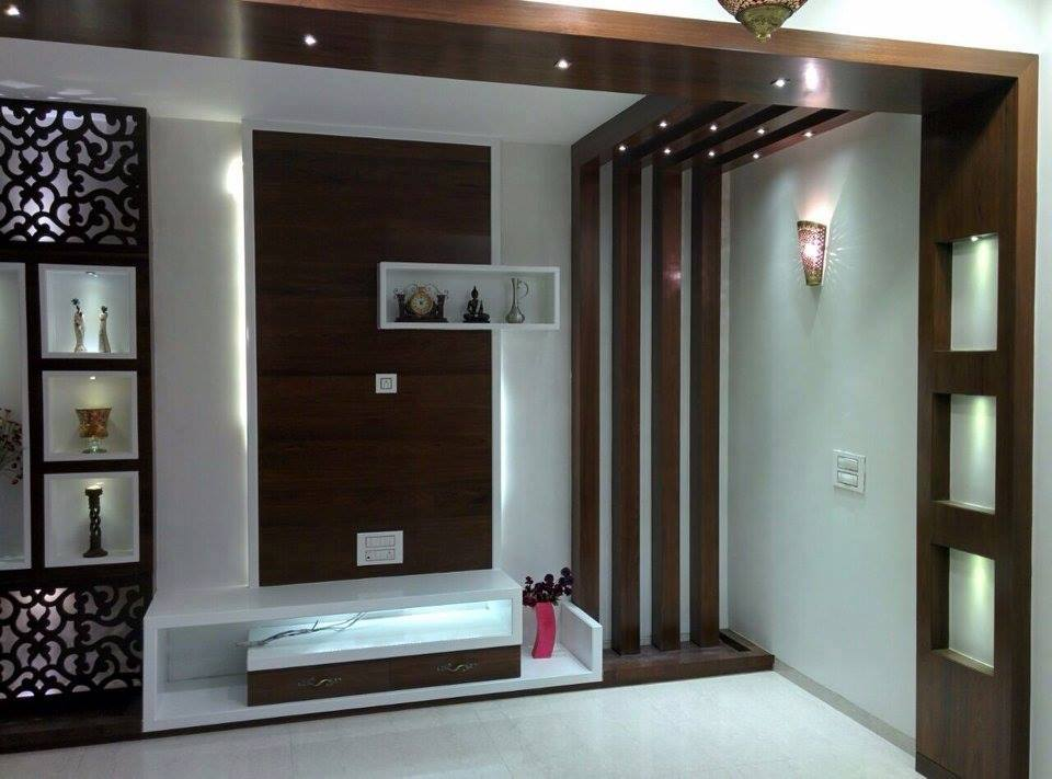 Modern TV Cum Display Unit by Misaki Atelier Living-room Modern | Interior Design Photos & Ideas