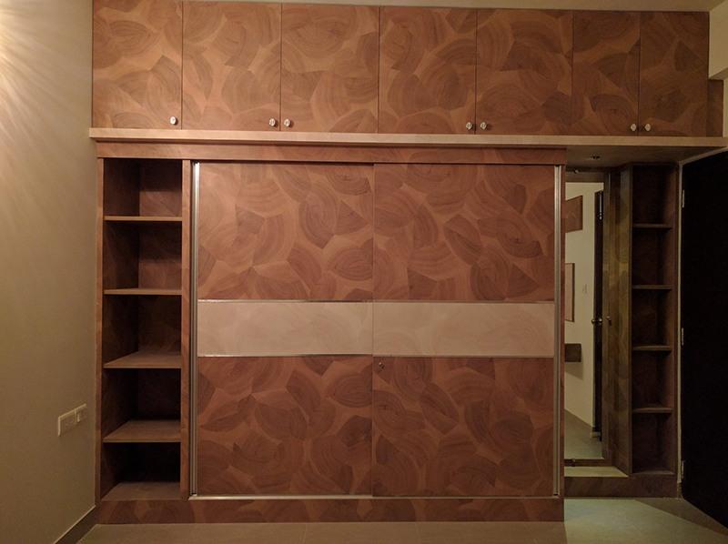 Brown Shaded Wardrobe by Misaki Atelier Bedroom Modern | Interior Design Photos & Ideas