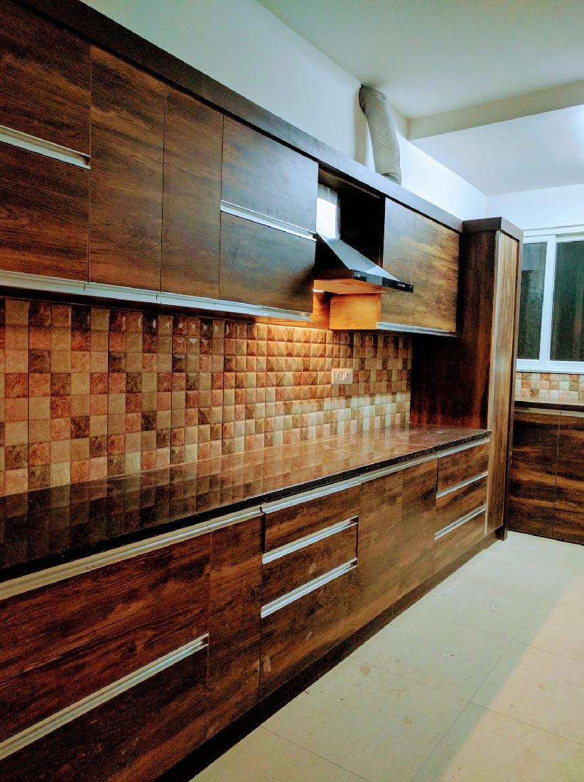 Modern Modular Kitchen by Misaki Atelier Modular-kitchen Modern   Interior Design Photos & Ideas