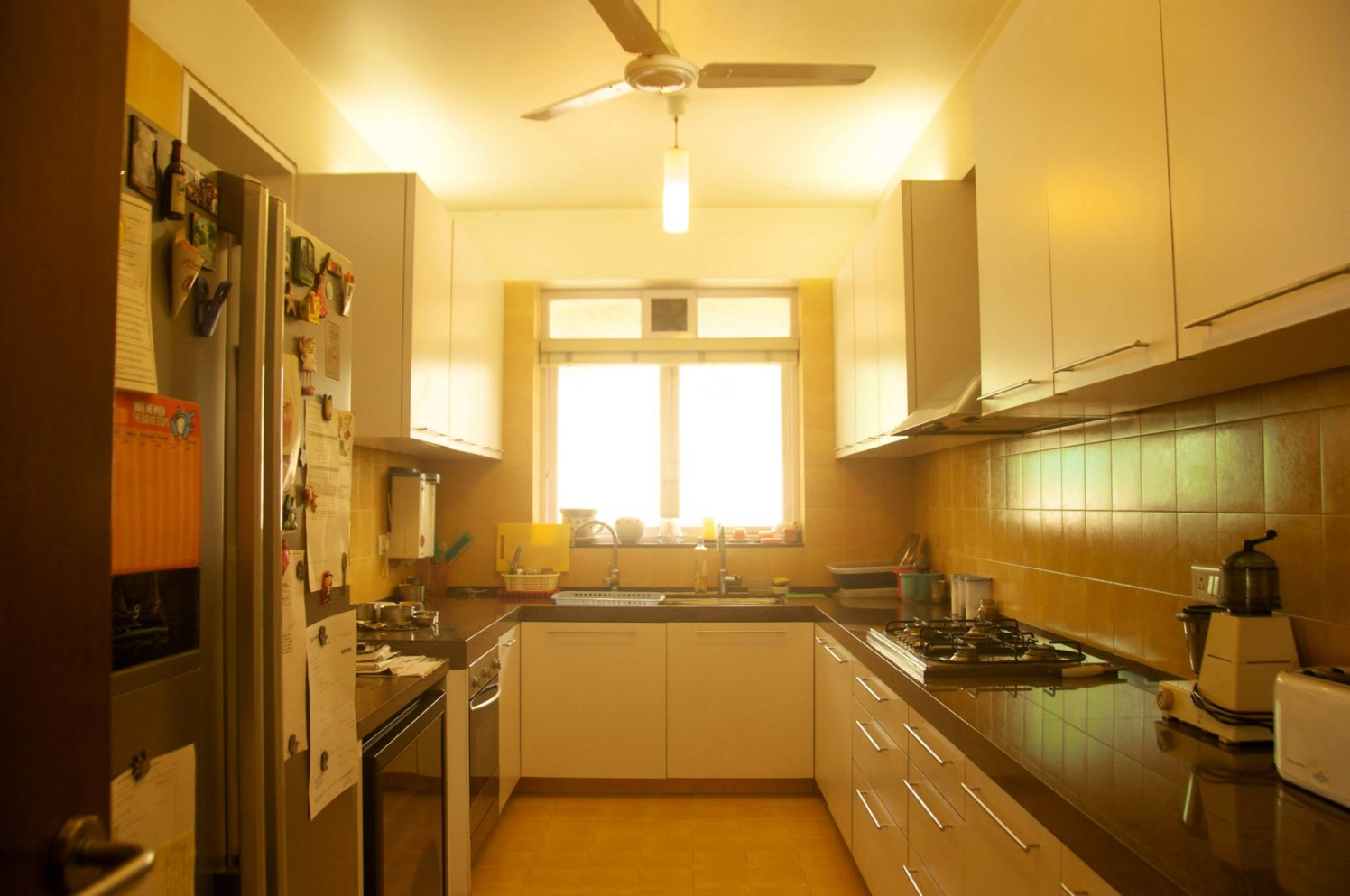 Spacious Modular Kitchen With White Shaded Cabinets by Viraf Laskari  Modular-kitchen Modern   Interior Design Photos & Ideas