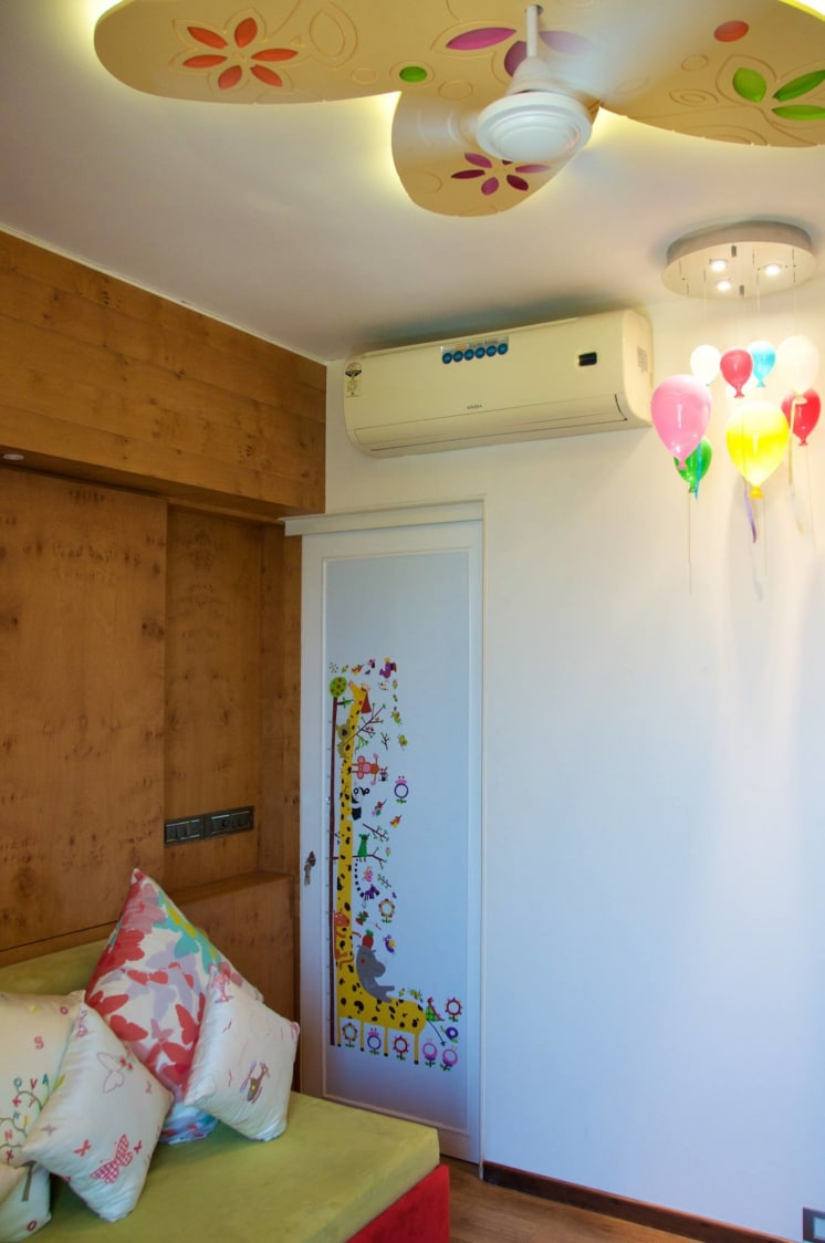 Kids bedroom with Colorful Ceiling and hanging Lights by Viraf Laskari  Bedroom Contemporary | Interior Design Photos & Ideas